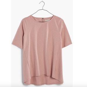 Madewell Pink Back-zip Swing Tee